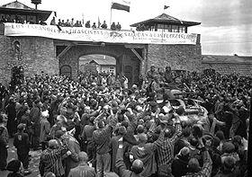 Mauthausen liberación pancarta español