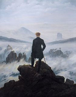 El viatger davant la boira. Caspar_David_Friedrich_-_Wanderer_above_the_sea_of_fog.
