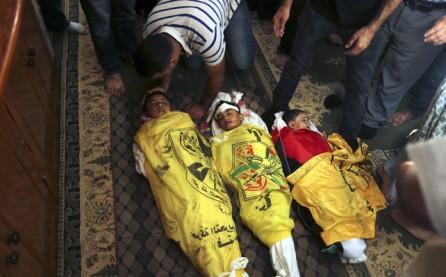 niños palestinos muertos