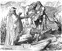 Odin_entführt_Sinfjötlis_Leiche_(1883)_by_Johannes_Gehrts