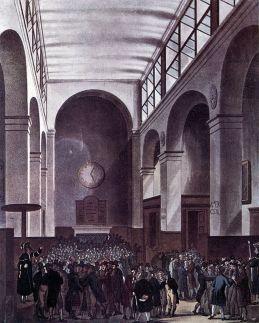 Borsa de Londres en 1810.