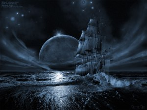 Ghost Ship At Night