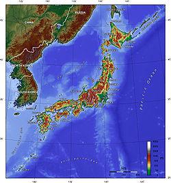 mapa Japan_topo_en