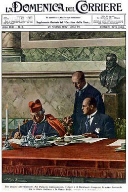 Mussolini i Papa- Pactos de Letran