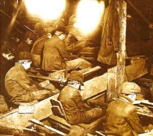 proletariado- Xiquets treballant en una mina de carbó a Pennsylvania (EEUU)