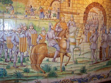 9 d'octubre. Entrada de Jaume I a València. Ceràmica popular.