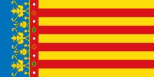 Bandera oficial des de la creació de l'Estatut d'Autonomia.