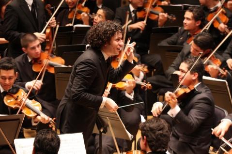 Dudamel amb l' Orquesta Nacional Juvenil de Venezuela