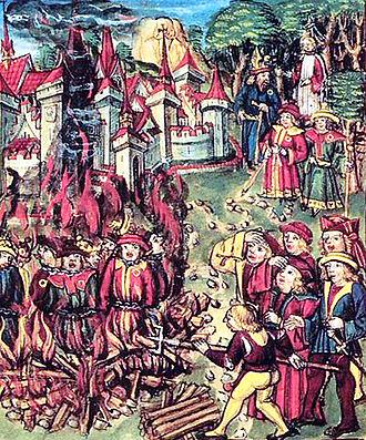 Judíos en la hoguera con insignia amarilla (XV)