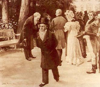 Beethoven  con Goethe  le niega el saludo a la familia imperial (1812)