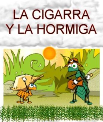 cigarra hormiga