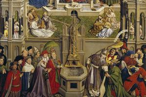 el triunfo de la iglesia sobre la sinagoga. Detalle.