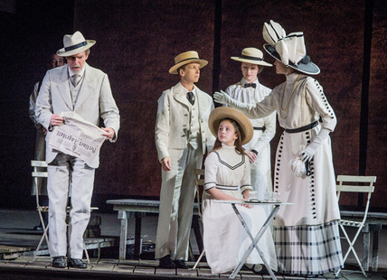 Death in Venice - Benjamin Britten and Myfanwy Piper - Opera North - 17th October 2013 Gustav von Aschenbach - Alan Oke Traveller, Fop, Gondolier, Hotel Manager, Barber, Leader of the Players, Voice of Dionysus - Peter Savidge Voice of Apollo - Christoph