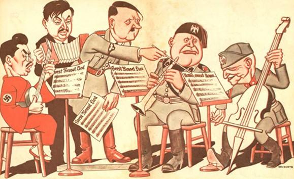 hitler i nazis caricatura
