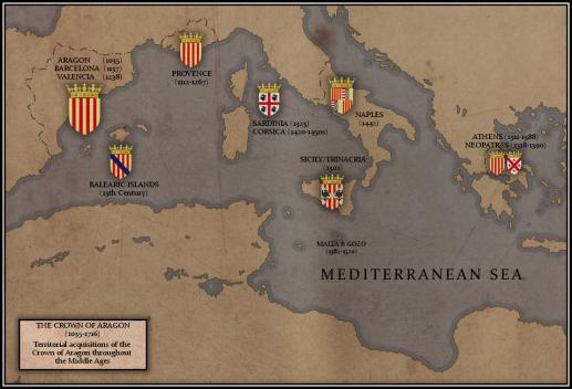 mapa corona aragón inglés