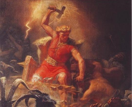 Thor, dios del trueno.