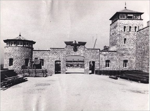 Mauthausen gate during the camps operation