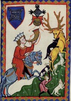 caza ciervo medieval