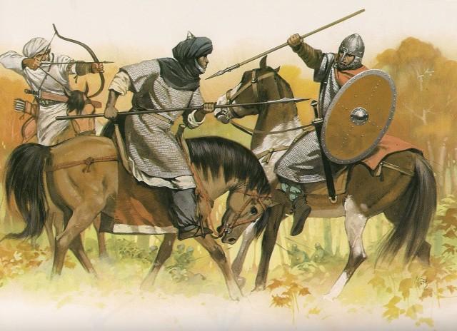 arabes luchando