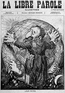 antisemitische-Karikatur
