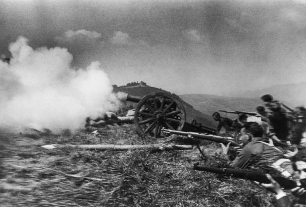 Soldados+republicanos+en+combate.+1936