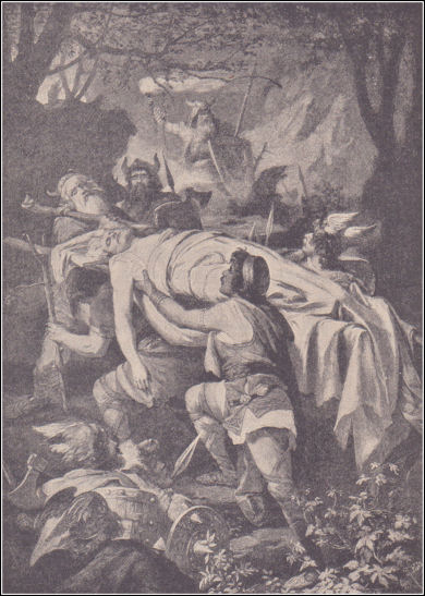 The body of Siegfried is carried to Worms.