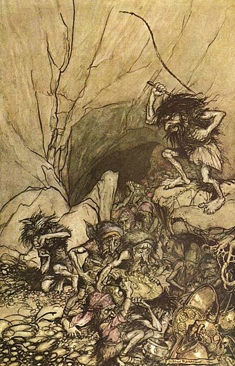 Alberich and the subjugated Nibelung dwarfs