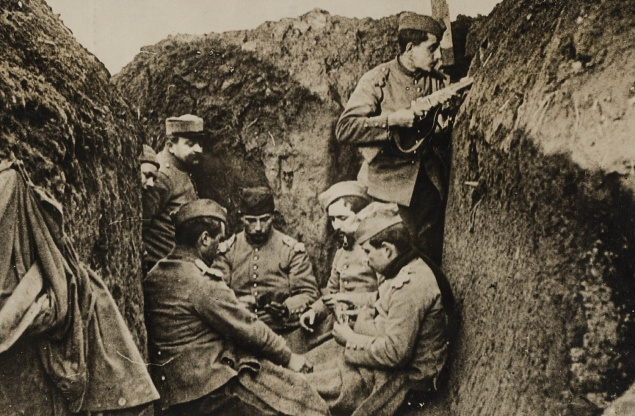jugando cartas franceses trincheres