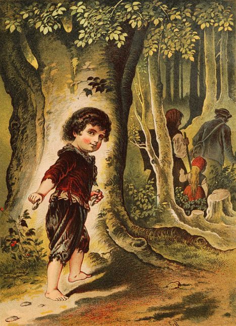Hansel y Gretel, ilustración de Carl Offterdinger.