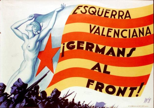 estelada valenciana guerra