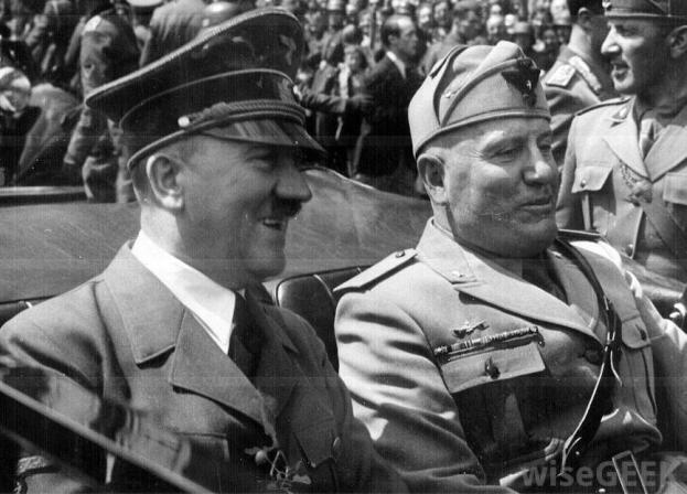 hitler-and-mussolini-in-car