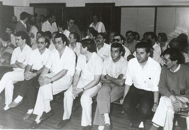 Miembros del Comité de Forjas y Aceros durante el juicio por la retención de Antolín. ARCHIVO CCOO
