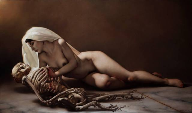 Death and the Maiden - Roberto Ferri